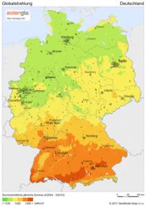 Sonneneinstrahlung Deutschland