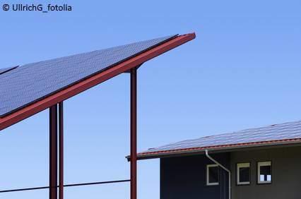 Solar Carport Neigung